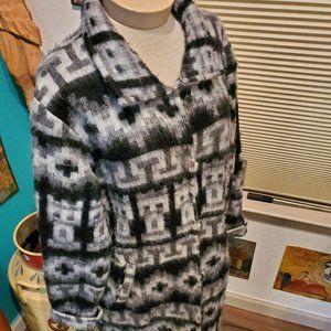Vintage Aztec Alpaca wool coat  (L)
